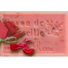 Wilde Roos met blaadjes - Savon de Marseille